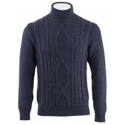 Pull col roulé Southend homme marine