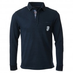 Polo ML Marine/Gris