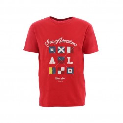 Tee-shirt homme serigraphié Sea Adventurer rouge