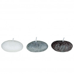 Set de 3 bougies décoratives galets