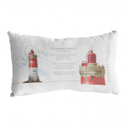 Coussin rectangle phare Pierres Noires
