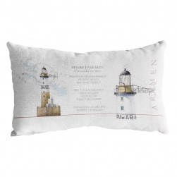 Coussin rectangle phare Ar Men