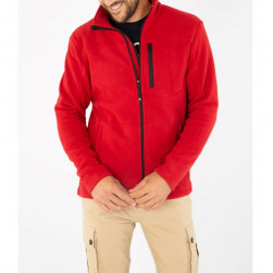 Veste polaire double face Permy rouge